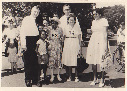 Walkabout NT 1961 or 1962. Mayor, Raylene Abala, Nellie Flynn, Frances Taylor, Bessie Scrutton